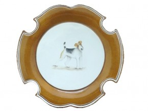 Assiette Fox terrier
