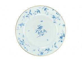 Assiette céladon  les Oiseaux bleus