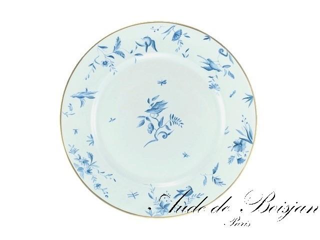 Assiette oiseaux bleus