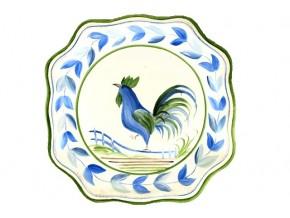 Assiette en faïence Coq stylisé
