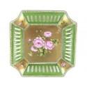 Coupe  ''Eloïse '' Roses sur putoisage d'or fin