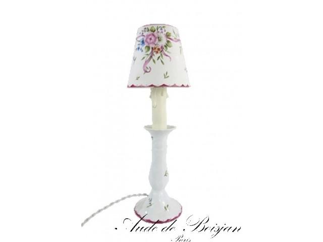 Lampe bougeoir en porcelaine
