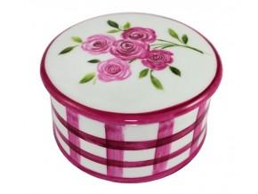 Petite boîte Chapeau bouquet de roses