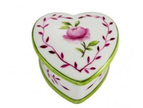 Petite boîte Coeur et rose