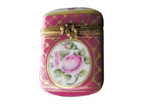 Petite boîte sertie Roses en médaillon
