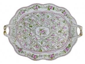 Plat ovale '' Eugénie'' en porcelaine