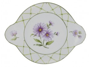 Petit plat rond bouquet de marguerites