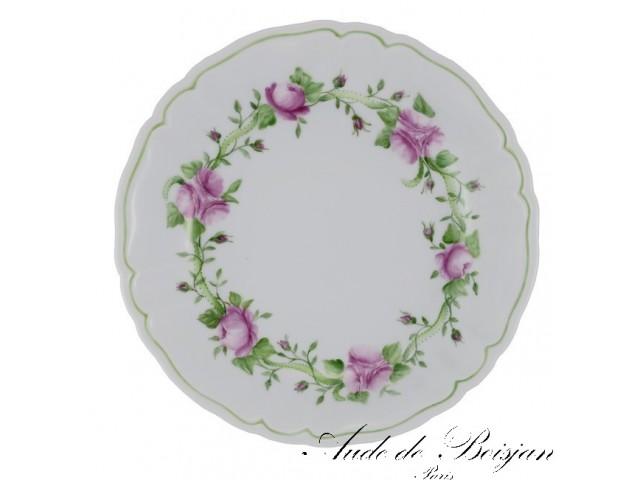 Assiettes entrelacs de roses et feuillage