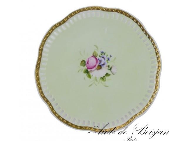 Assiettes ajourées bouquets de roses