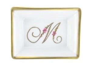Mini Vide poche Monogramme en or