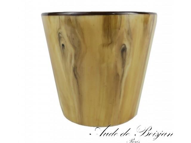 Petit vase imitation bois