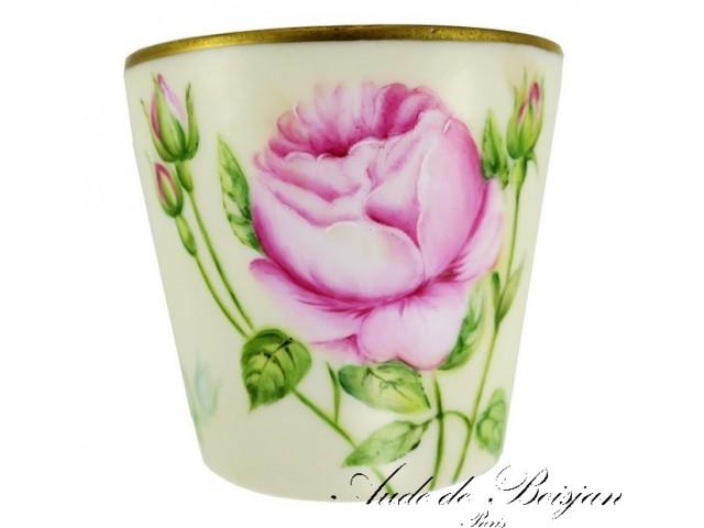 Petit vase Roses sur fond crème