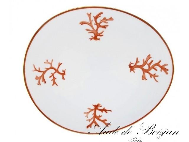 Assiette en porcelaine Corail