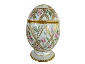 """Oeuf de décoration en porcelaine """"Eugénie"""""""