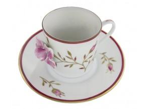 Tasse à café Rose en relief