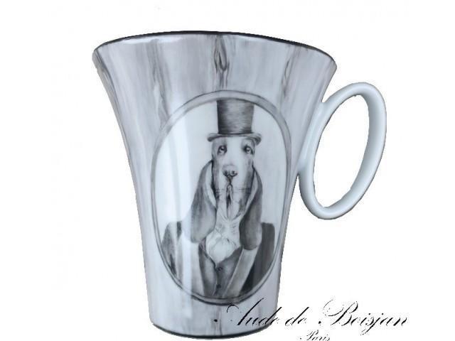 Mug  chien Saint-Hubert en haut de forme