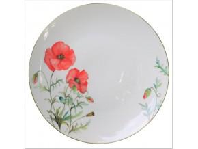 Assiette en porcelaine Fleurs de campagne