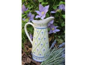 Pichet ou vase en porcelaine décoré de Barbeaux
