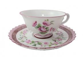 Tasse à thé bouquet de roses