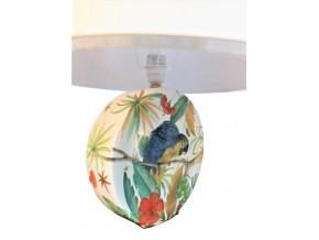 Lampe Tropicale Jungle Parrots en porcelaine