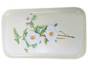Plat à cake en porcelaine Fleurs de Camélia