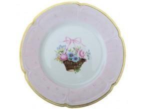 Assiette à dessert Alice en porcelaine de Limoges