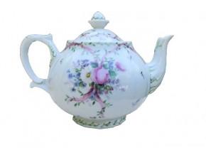 Service à thé Marie Rose en porcelaine de Limoges