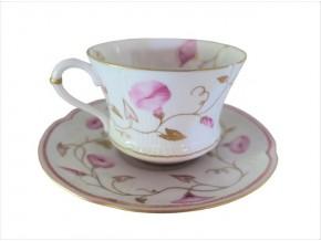Tasse à thé Volubilis rose en porcelaine de Limoges