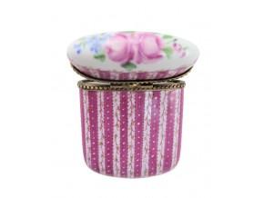 Petite boîte sertie en porcelaine de Limoges