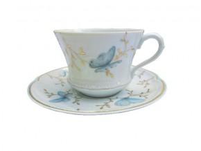 Tasse à thé Papillons en porcelaine de Limoges