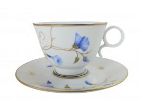 Tasse à thé Volubilis bleu en  porcelaine de Limoges