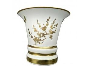 Vase '' Fleurs d'Or '' en porcelaine
