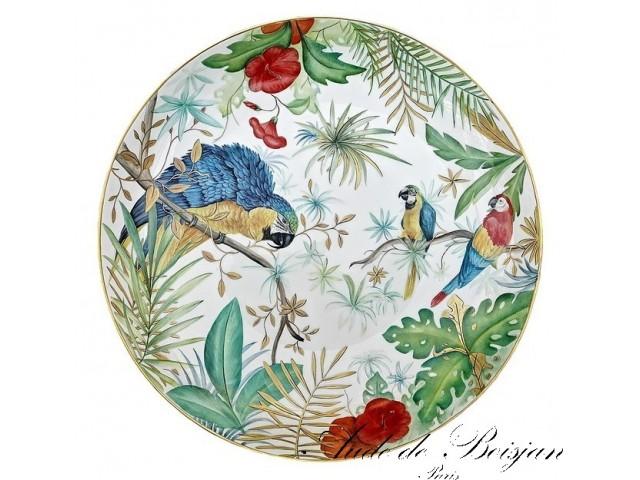 Grand coupe '' Tropical Jungle Parrots ''