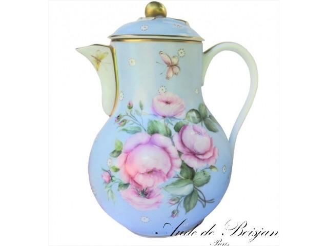 Service à thé Elisabeth en porcelaine de Limoges