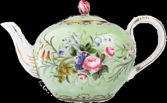 porcelaine peinte à la main avec un décor floral